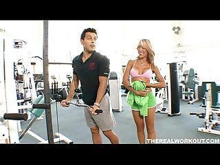 Nice titted capri cavalli seduces her trainer and gets a private workout