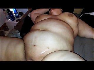 Bbw melanie gets cum on her fat tits