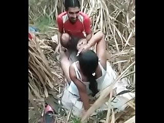 Two Desi girl in jungle fuck with college friends