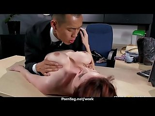 Big titted Babe helps her ceo get off while at work 16