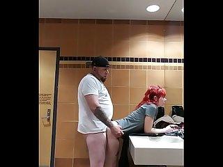 Public restroom fuck 2