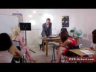 Sexy busty schoolgirl and teacher fucked at school 15