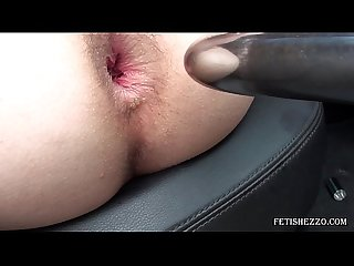 Anal balls and dildo go ass to mouth
