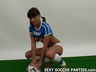 Sexy italian soccer girl in panties