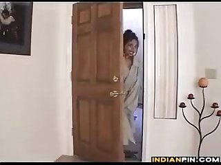 Indian maid with big tits gets naked