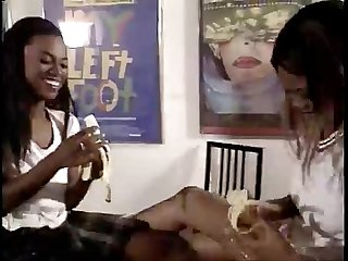 Black lesbians fucking in kitchen chocolate bananas and whip cream