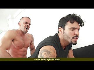 Hot body guys play with their cocks 16