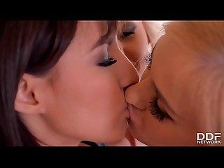 Sexy lesbos Helena Valentine & Alana Moon & Suzy Rainbow lick their pinks