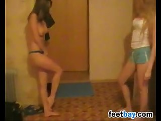 Beautiful Girls Kicking Each Others Twat
