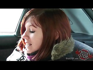 Bitch stop red haired teen hitchhiker monca fucked