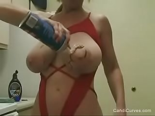Candi curves stacked Busty gran gilf with huge udder tits