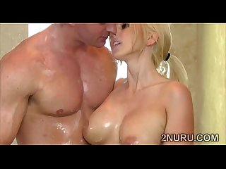 Big stacked blonde whore gives a teasing nuru massageut my tip scene 43464 2