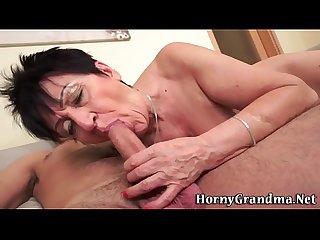 Nasty grandma creampied