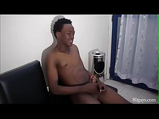 Black African Jackson Jacking Off
