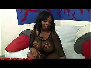 Giant huge real titty black girl gets fucked and swallows big load