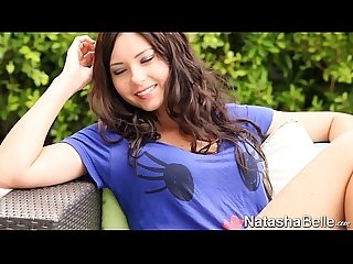 Gorgeous brunette natasha belle