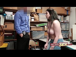 Amilia gets her pussy stretched by her horny officer stepdad