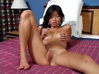 Asian eat your cum off her feet
