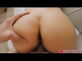 Naughty stepsis get stepbro crazy over her