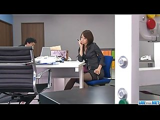 Office bimbo comma maki hojo comma plays with her fanny