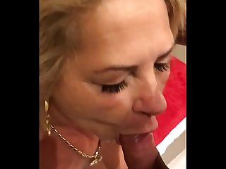 Chubby brazilian milf sucking my big cock
