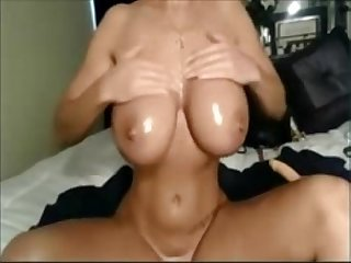 Busty horny Babe puts on an awesome show