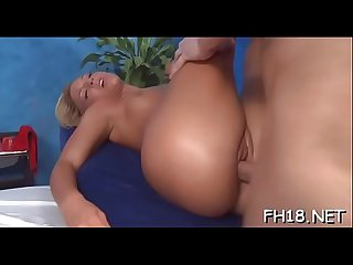 Hawt chick plays with dick then gets nailed hard
