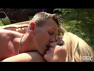 Extra hot Milf Amber Jayne gets loads of cum all over her shaved pussy