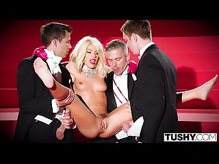 Tushy Adriana chechik gets triple teamed and gaped