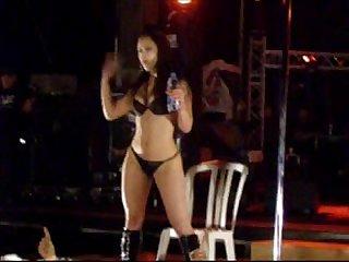Sexy striper on biker show