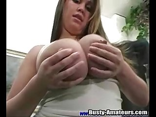 Brandy is about to show off her sexy body and big melons