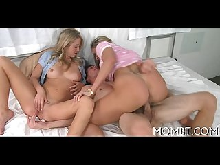 Wild and captivating trio sex