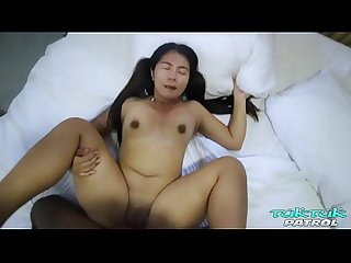 Thick ass Asian girl with tattoos craves big black cock interracial fucking from sex tourist on..