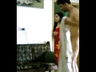 Beautiful wife making love with husband