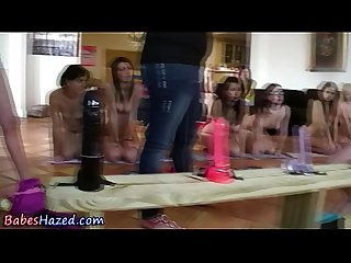 Teen amateurs ride dildos