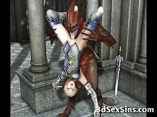 Demons fucking 3d babes
