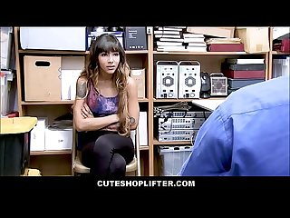 Hot skinny latina teen with tattoos kitty carrera caught shoplifting merchandise sex with loss preve