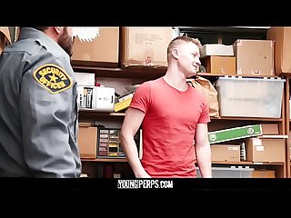 Youngperps tall blonde straight boy barebacked by older horny security guard