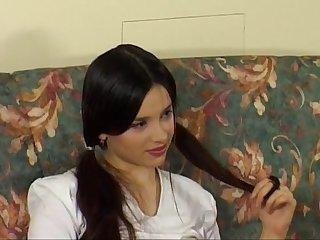 Russian teen dark haired beauty