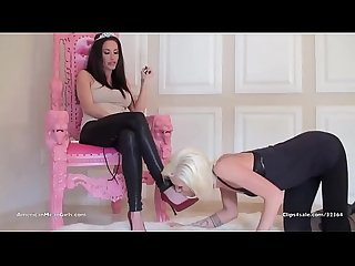 Goddess Randi slave maia davis lesbian foot worship