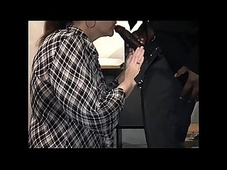 Mature Office Assistant Caught Sucking Black Dick At Work