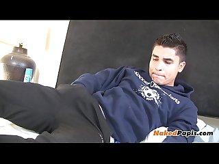 Hot latin papi jerking off