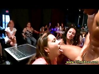 Amateur girls suck strippers at cfnm party