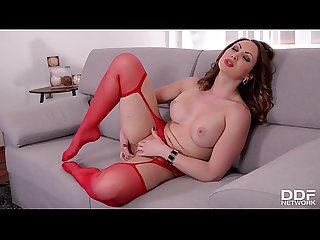 Yasmine scott finger bangs her pussy in crotchless pantyhose