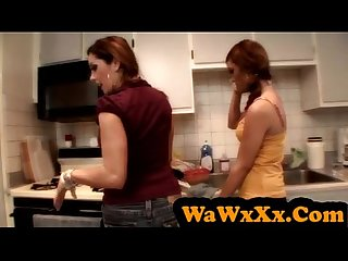 WaWxXx.Com - Elder bitch is not clever but a good licker
