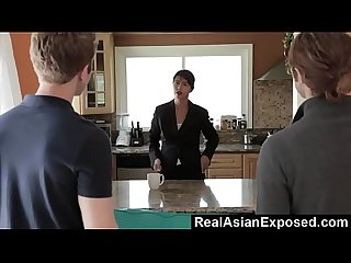 RealAsianExposed - Dana Vespoli gets double dipped and swallows cum