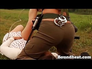 Mistress hunts new girl slaves scene