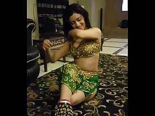 Beautiful indian girl doing sexy mujra for her customer