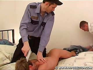 Arrested and fucked on his mouth and tight anal