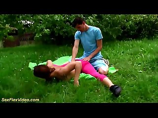 extreme flexible outdoor sex gymnastic
